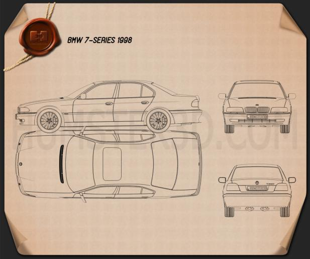 BMW 7 series e38 1998 Blueprint