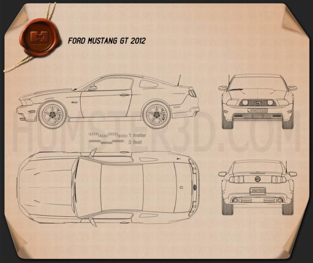 Ford Mustang GT 2012 Blueprint