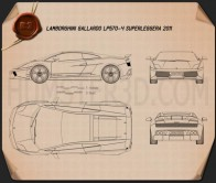 Lamborghini Gallardo LP570-4 Superleggera 2011 Blueprint