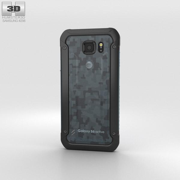 samsung galaxy s6 active blue 3d model hum3d. Black Bedroom Furniture Sets. Home Design Ideas