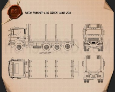 Iveco Trakker Log Truck 2012 Blueprint