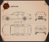 Lexus GS 2012 Blueprint
