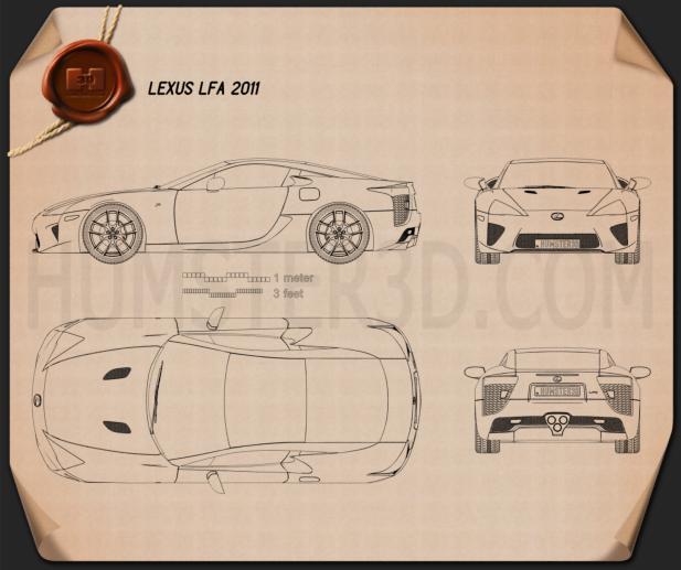 Lexus LFA 2013 Blueprint
