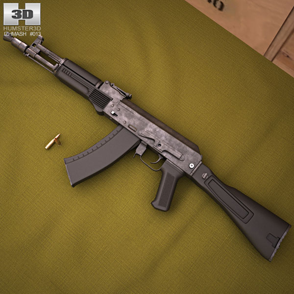 Ak 105 ak-105 3d model - weapon on hum3d