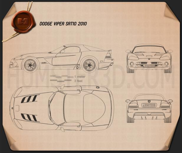Dodge Viper SRT10 2010 Blueprint
