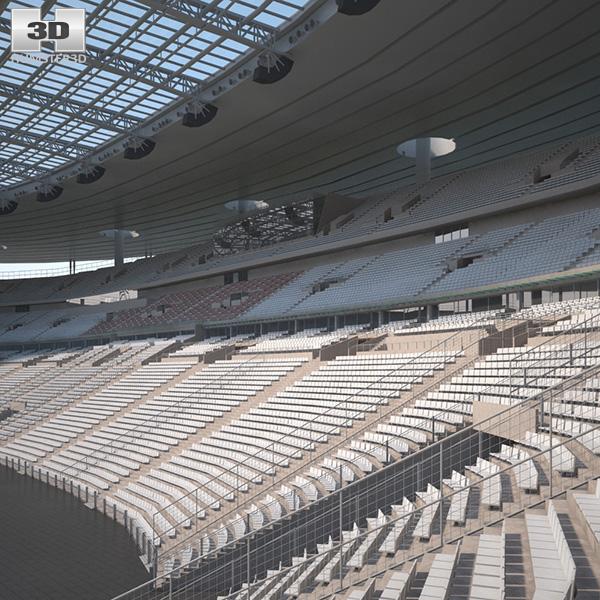 Stade de france 3d model hum3d - Capacite d accueil stade de france ...