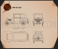 BMW DiXi 1928 Blueprint