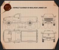 Chevrolet Silverado HD Regular Cab Long Bed 2011 Blueprint