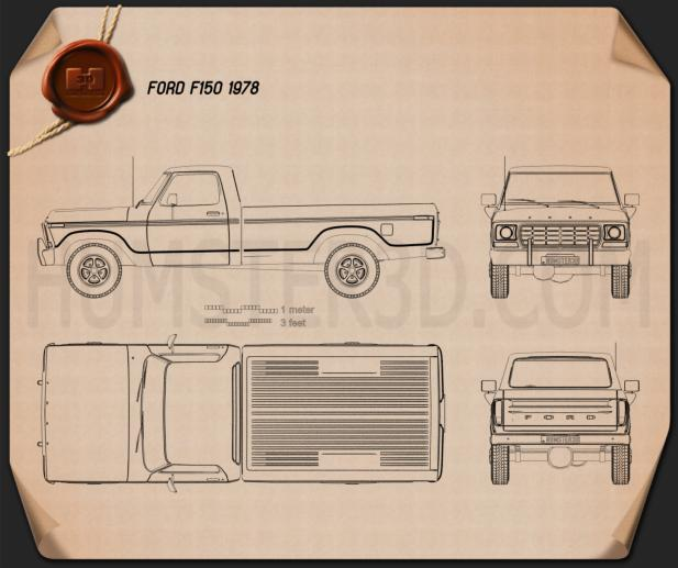 Ford F150 1978 Blueprint