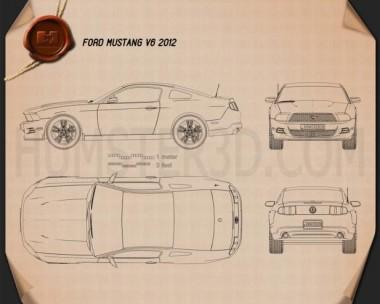 Ford Mustang V6 2012 Blueprint