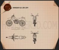 Kawasaki KLX250 2014 Blueprint