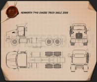 Kenworth T440 Chassis Truck 3-axle 2009 Blueprint