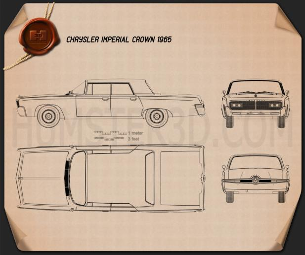 Chrysler Imperial Crown 1965 Blueprint