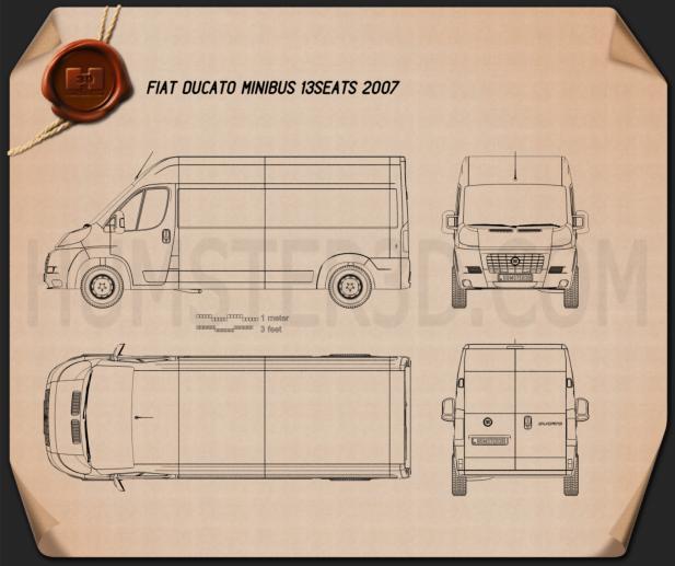 Fiat Ducato Minibus 2012 Blueprint