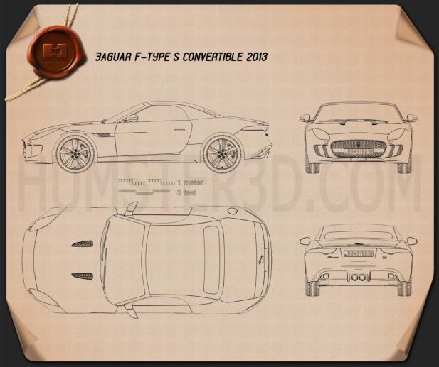 Jaguar F-Type S convertible 2013 Blueprint