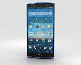 Fujitsu Arrows A 202F Blue 3D model