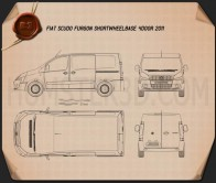 Fiat Scudo Furgon ShortWheelbase 4-door 2011 Blueprint
