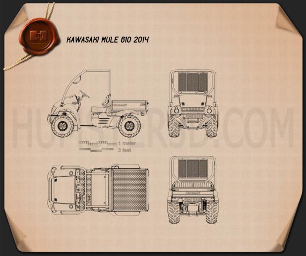 Kawasaki MULE 610 2014 Blueprint