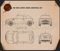 Mini John Cooper Works Convertible 2011 Blueprint