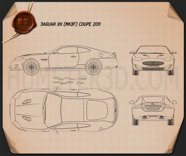 Jaguar XK coupe 2011 Blueprint