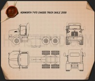 Kenworth T470 Chassis Truck 3-axle 2009 Blueprint