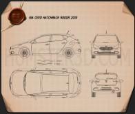 Kia Ceed hatchback 5-door 2013 Blueprint