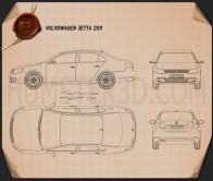Volkswagen Jetta (Sagitar) 2011 Blueprint