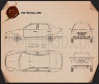 Proton Saga FLX 2012 Blueprint
