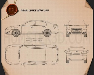 Subaru Legacy (Liberty) sedan 2010 Blueprint