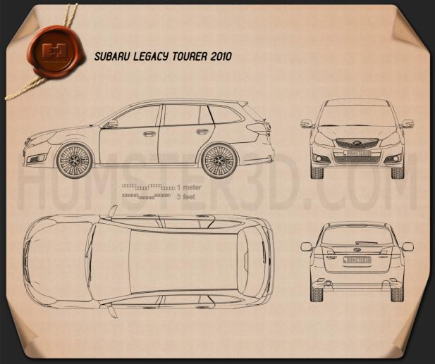 Subaru Legacy tourer 2010 Blueprint