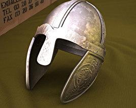 Embossed Viking Helmet 3D model