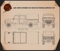 Land Rover Defender 130 High Capacity Double Cab PickUp Blueprint
