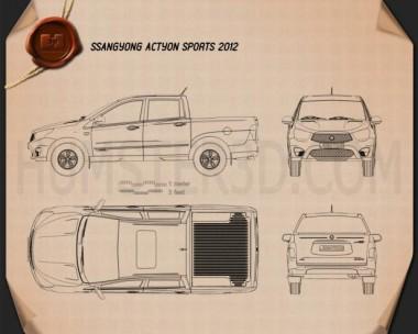 SsangYong Korando Sports (New Actyon) 2012 Blueprint