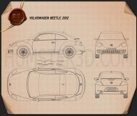 Volkswagen Beetle 2012 Blueprint