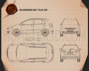 Volkswagen Golf Plus 2011 Blueprint