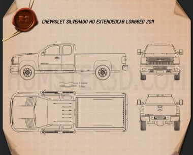 Chevrolet Silverado HD Extended Cab Long Bed 2011 Blueprint