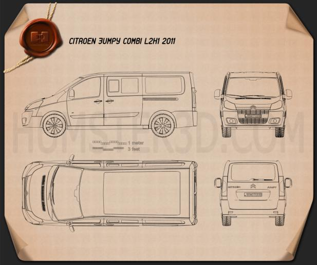Citroen Jumpy Combi L2H1 2011 Blueprint