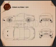 Ferrari California T 2014 Blueprint