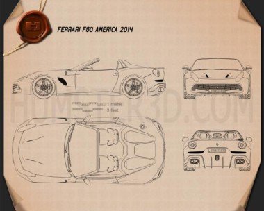 Ferrari F60 America 2015 Blueprint