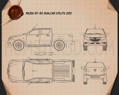 Mazda BT-50 Dual Cab 2012 Blueprint
