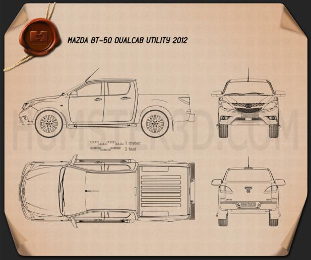 Mazda BT-50 Dual Cab 2012 Blueprint