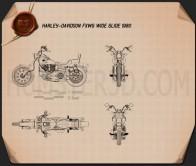 Harley-Davidson FXWG Wide Glide 1980 Blueprint