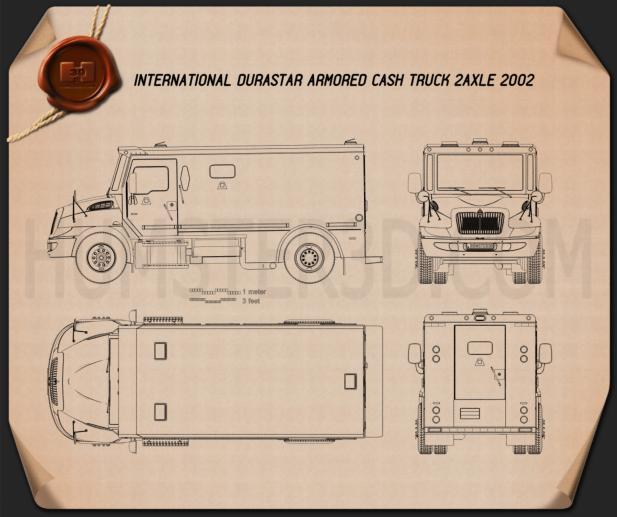 International Durastar Armored Cash Truck 2002 Blueprint