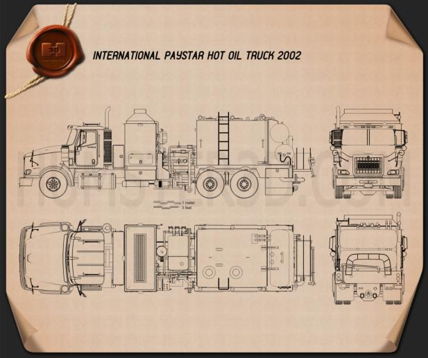 International Paystar Hot Oil Truck 2002 Blueprint