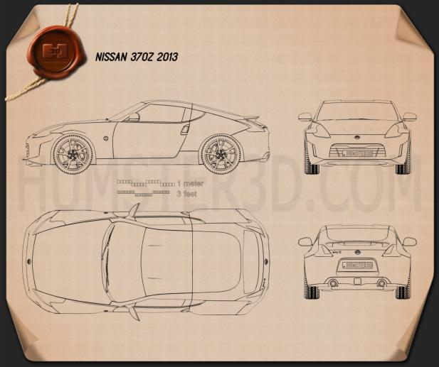 Nissan 370Z Coupe 2013 Blueprint