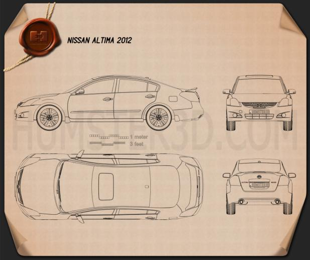 Nissan Altima 2012 Blueprint