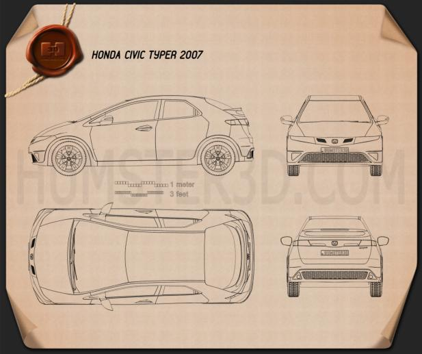 Honda Civic TypeR 2007 Blueprint