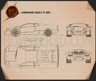Lamborghini Diablo VT 1993 Blueprint