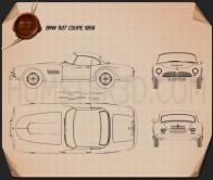 BMW 507 coupe 1959 Blueprint