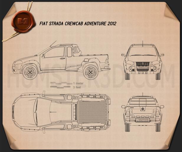 Fiat Strada Crew Cab Adventure 2012 Blueprint